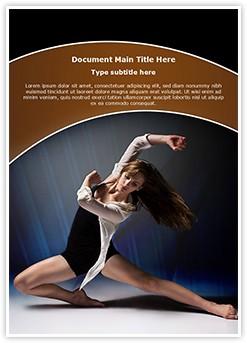 Female Jazz Dancer Editable Word Template