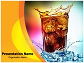 Overflowing Drink Editable PowerPoint Template