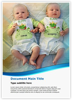 Twins Babies Editable Word Template