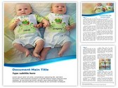 Twins Babies Template