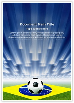 Brazil Football Soccer Editable Word Template