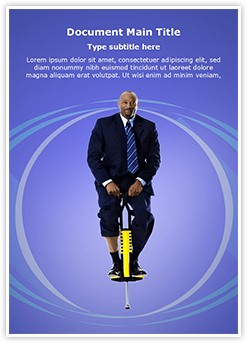 Businessman Pogo Stick Editable Word Template