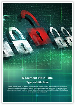Computer Security Encryption Editable Word Template