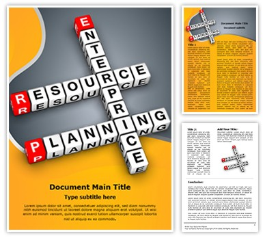 Corporate Erp Editable Word Document Template
