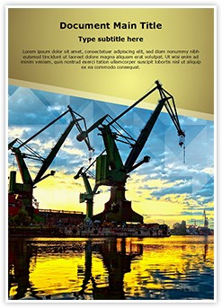 Shipyard Monumental Cranes Editable Word Template