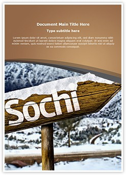 Sochi Russia Editable Word Template