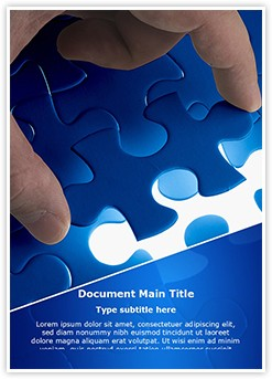 Missing Puzzle Editable Word Template