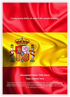 National Flag Spain Editable Word Template