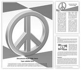 Peace Love Symbol Editable Word Template