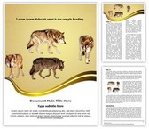 Wildlife Wolf Editable Word Template
