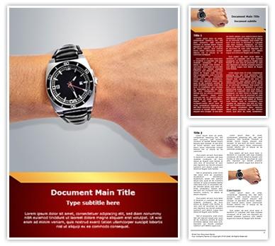Fashion Accessory Wristwatch Editable Word Document Template