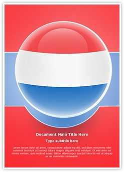 Netherlands Flag Icon Editable Word Template