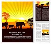 African Wildlife Editable Word Template