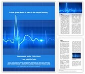 Medical Equipment Electrocardiogram Editable Word Template