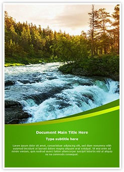 River Travel Destinations Editable Word Template