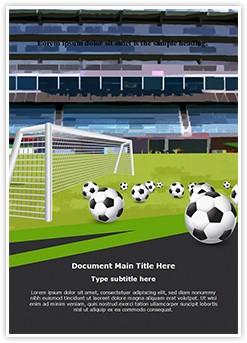 Goal Keeper Soccer Sports Editable Word Template