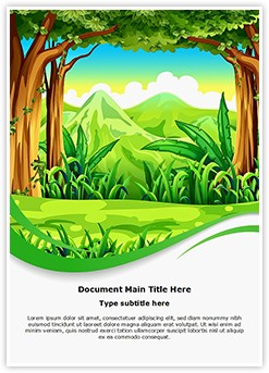 Forest Editable Word Template