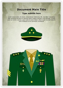 General Military Uniform Editable Word Template