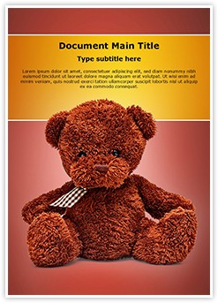 Cute Teddy Bear Editable Word Template