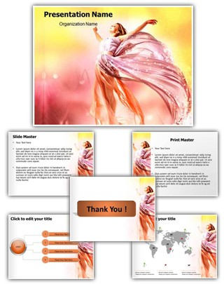 Beautiful Girls Editable PowerPoint Template