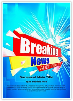 Journalism Breaking News Editable Word Template