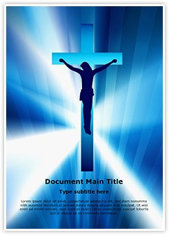 Jesus Cross Editable Word Template