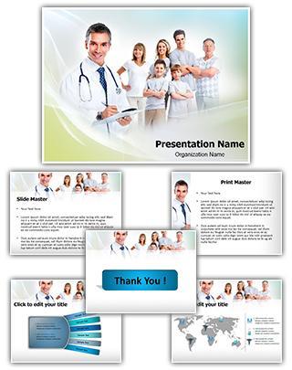 Family Healthcare Editable PowerPoint Template