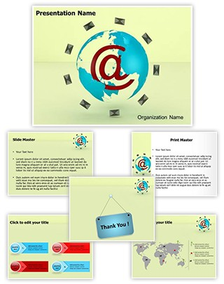 Global Email Marketing Editable 3D PPT Template