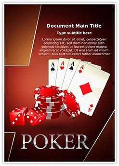 Poker Dice Cards Editable Word Template