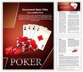 Poker Dice Cards Template
