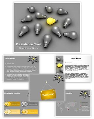 Idea Bulb Editable 3D PPT Template