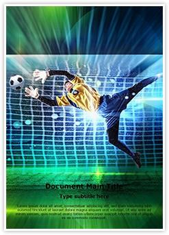 Soccer Goalkeeper Editable Word Template