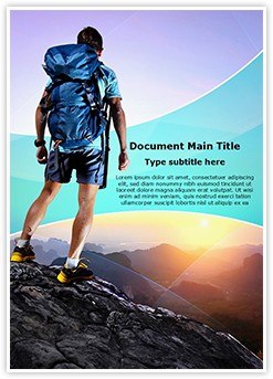 Tourist Hiking Adventure Sports Editable Word Template
