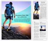 Tourist Hiking Adventure Sports Template