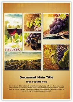Wine Montage Editable Word Template