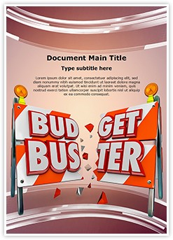 Financial Budget Buster Editable Word Template