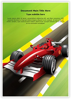 Formula 1 Grand Prix Editable Word Template