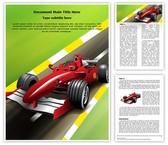 Formula 1 Grand Prix Editable Word Template
