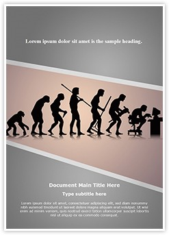 Human Evolution Editable Word Template