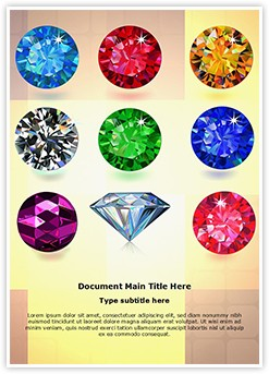 Jewelry Gemstone Editable Word Template