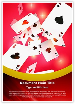 Gambling Playing Cards Editable Word Template