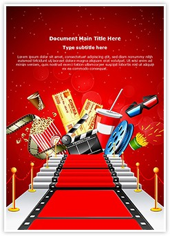 Red Carpet Entertainment Editable Word Template
