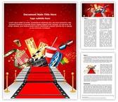 Red Carpet Entertainment Editable Word Template