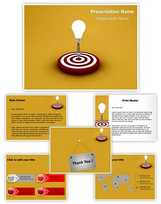 Idea Target Editable 3D PPT Template