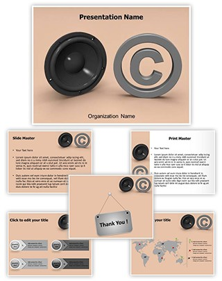 Music Copyright Law Editable 3D PPT Template