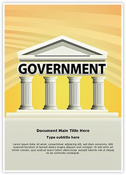 Architecture Government Building Editable Word Template