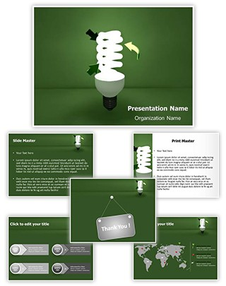 CFL Green Energy Editable 3D PPT Template