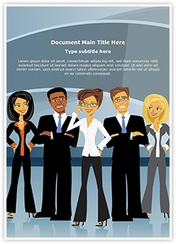 Business People Group Editable Word Template