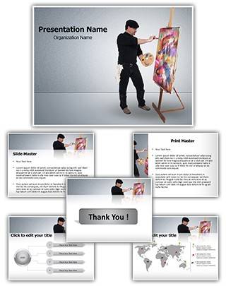 Fine Art Painter Editable PowerPoint Template