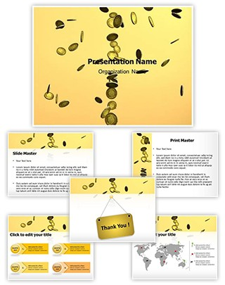 Coins Rain Editable PowerPoint Template